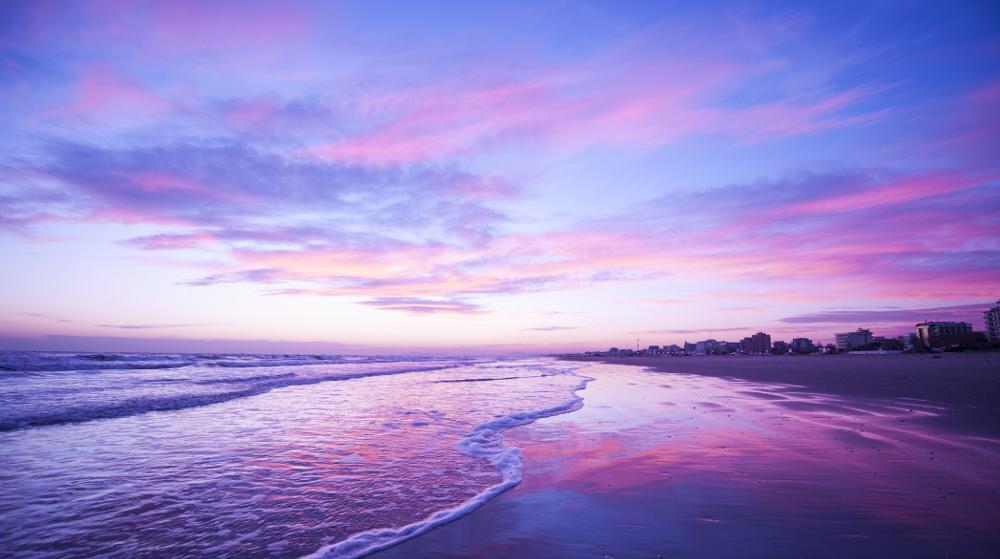 Tramonto spiaggia riccione