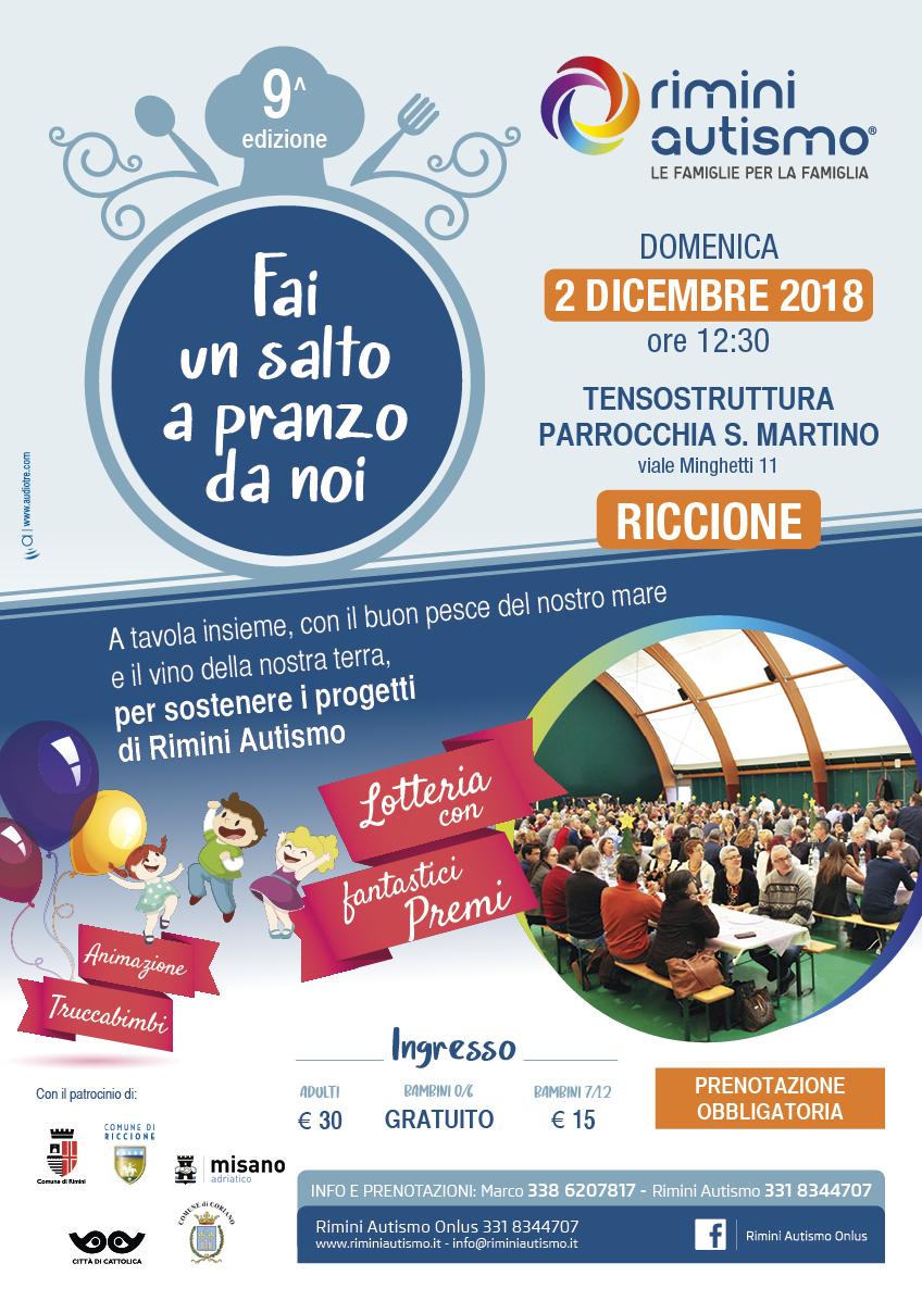 Fai un salto a pranzo da noi - Rimini Autismo 2018