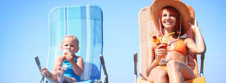 Offer special week last minute  '' umbrella and sun loungers  '' June 7 to 15  ''