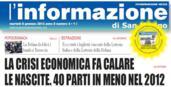 08.01.2013 ARTICOLO STAMPA L'INFORMAZIONE