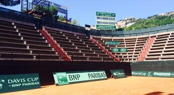Coppa Davis 2015: il Centro Tennis Cassa di Risparmio si rifà il look.