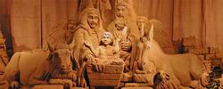 Szopka bożonarodzeniowa na piasku w Rimini i Torre Pedrera