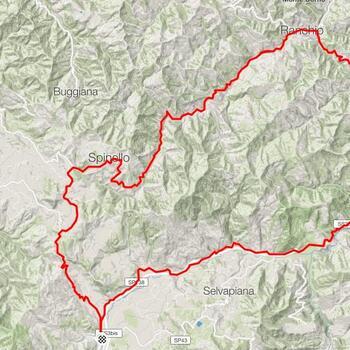 <b>Anello Carnaio - Sarsina - Bagno</b><br><br><b>Difficoltà</b>: Medio<br><br><b>Tipo</b>: Bici da strada<br><br><b>Dislivello</b>: 1175 m<br><br><b>Lunghezza</b>: 60 km<br><br><b>Tempo stimato</b>: 3.15 h