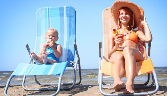 Genitori single con bambini in vacanza a Cesenatico