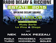 Concerto Radio Deejay: Nek, Max Pezzali e altri cantanti a Riccione