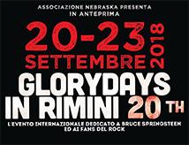 18esima edizione del tributo Bruce Springsteen Glory Days a Rimini