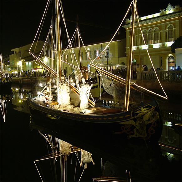 Presepe della Marineria 2017 a Cesenatico