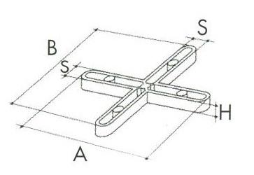 Distanziatori a croce per piastrelle fuga mm 2 alto conf for Distanziatori piastrelle 1 mm
