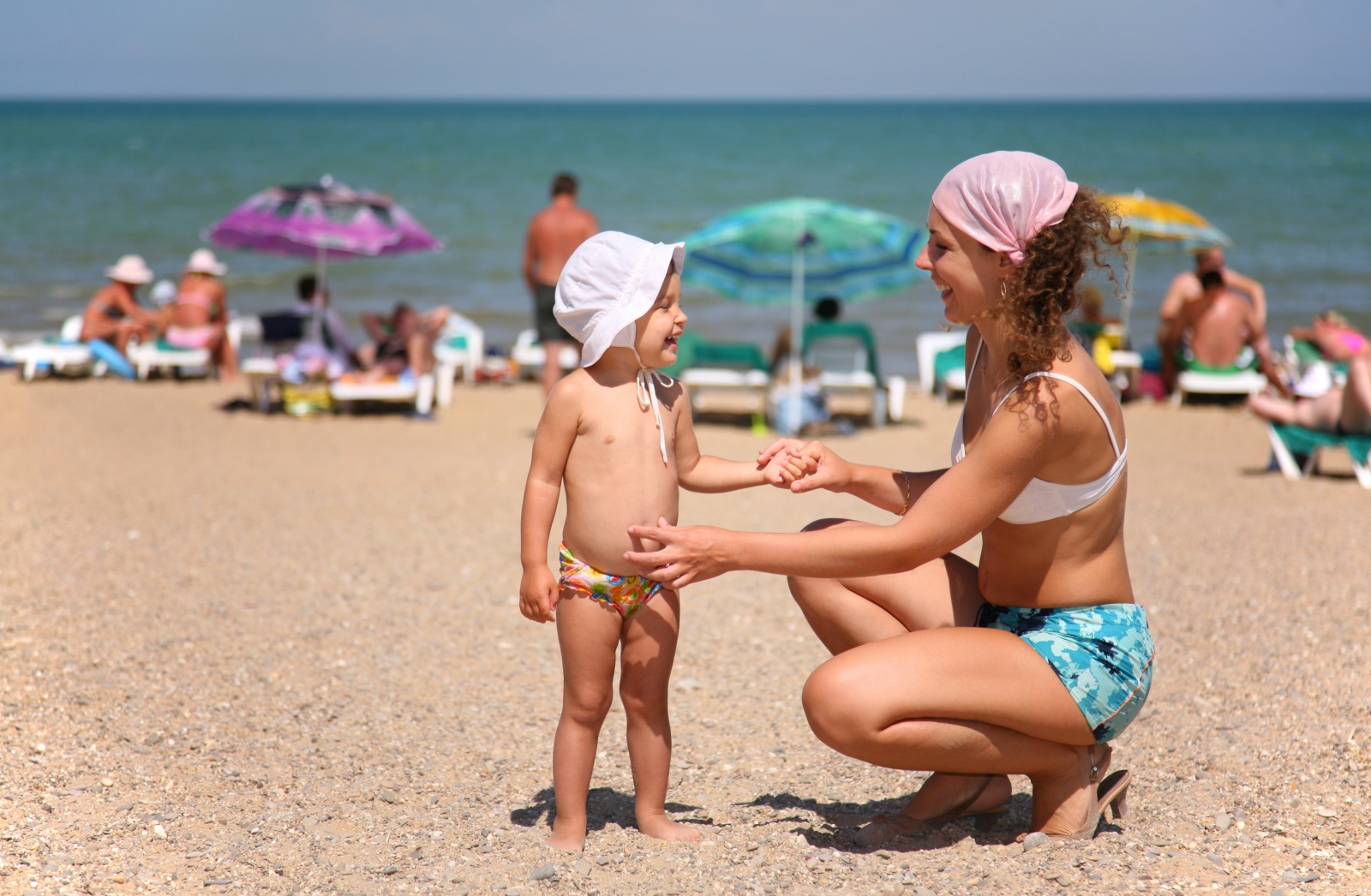 Фото мам на пляже 9 фотография