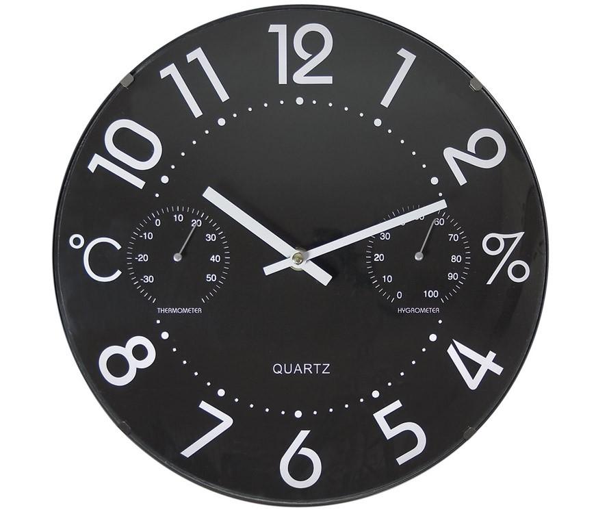 Orologio da parete con termometro e igrometro for Ikea orologio parete