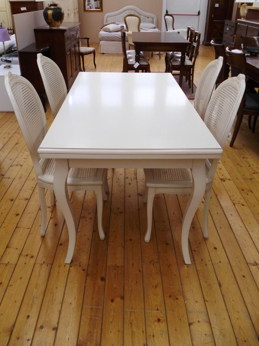Pin tavolo legno laccato bianco rotondo allungabile con gambone liscio 32 on pinterest - Tavolo rotondo bianco allungabile ...