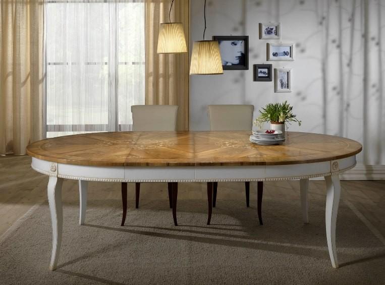 Gres effetto legno lucido for Tavoli allungabili ovali moderni