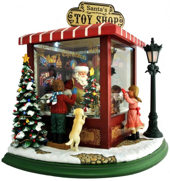 Carillon Negozio Di Babbo Natale Maxi Carillon E Boule