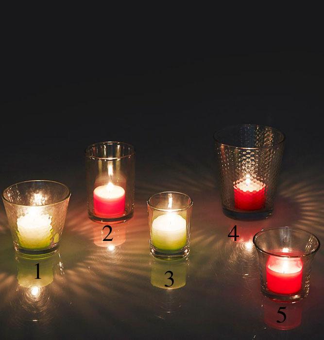 Porta candele fabulous tea lights e votive lanterne e - Porta tea light ...
