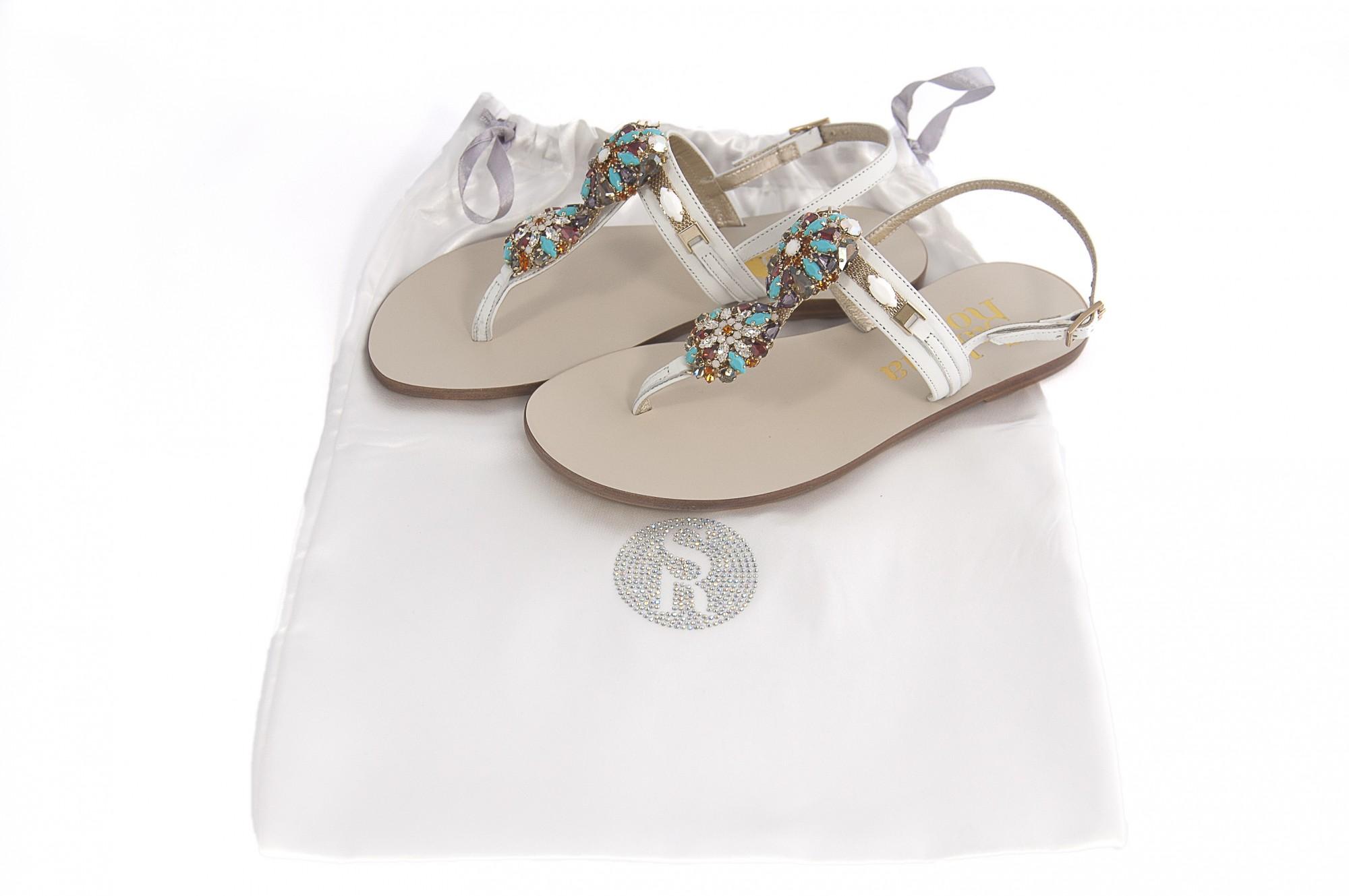Infradito gioiello bianco con strass e pietre swarovski for Swarovski italia catalogo
