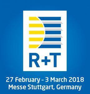 R+T Stoccarda 27 Febbraio - 03 Marzo 2018