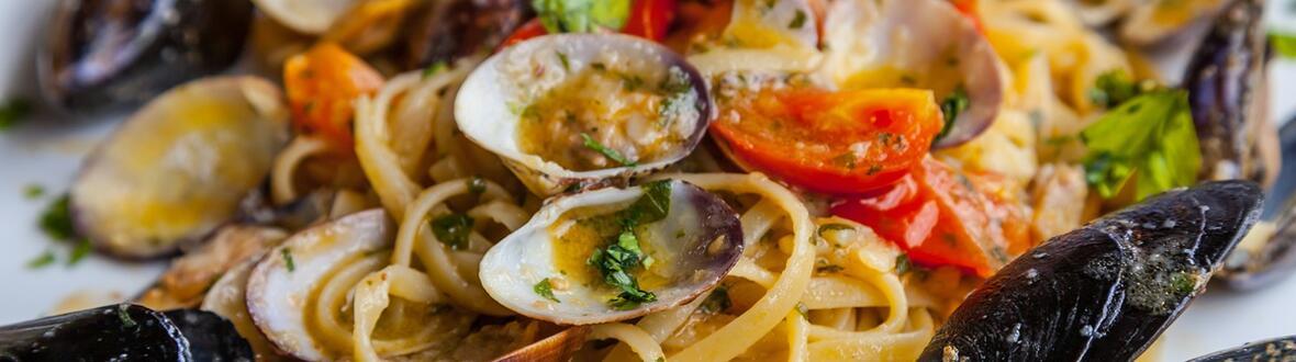 Menù di pesce dell'Adriatico specialità all' Hotel Caraibi