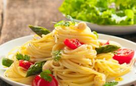 May offer in a hotel in Rimini with menus for vegetarians