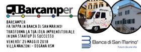 Barcamper fa tappa in Banca di San Marino!
