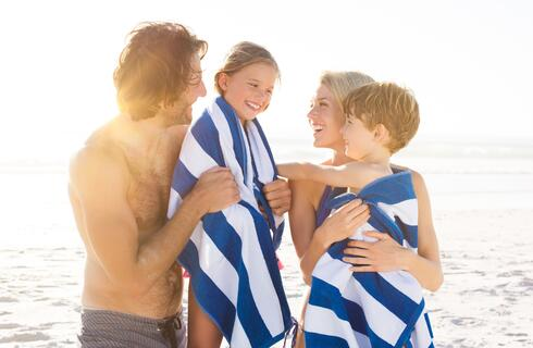 First week of August in Riccione family hotel with child discounts