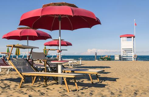 First week of September in Riccione in a family hotel