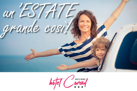 June Low-Cost Riccione offer in hotel with children for free