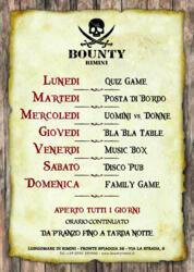 Programmazione settimanale del Bounty