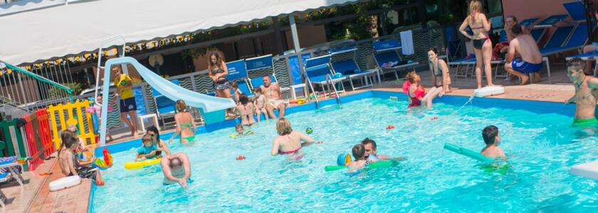 Weekend of June 2 2019 in Hotel with Swimming Pool in Rimini: All-Inclusive, Free Park and Animation