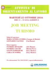 25 /10 /2016 Job Meeting sul Turismo