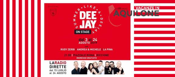 SUMMER LIKE A DEEJAY | L'ESTATE ON STAGE di RICCIONE con RADIO DEEJAY Rudy Zerbi, La Pina & C.