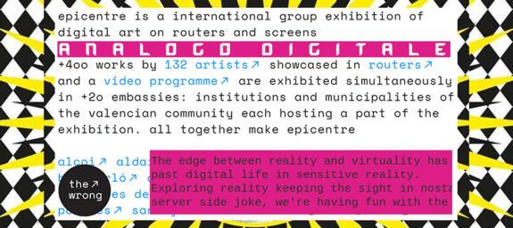 ANALOGO DIGITALE | Nuova Biennale d'Arte Digitale | #TheWrong #TheWrongBiennale