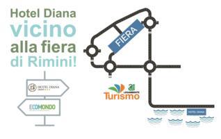 Offre chambres Ecomondo Hotel Diana Rimini sur la mer
