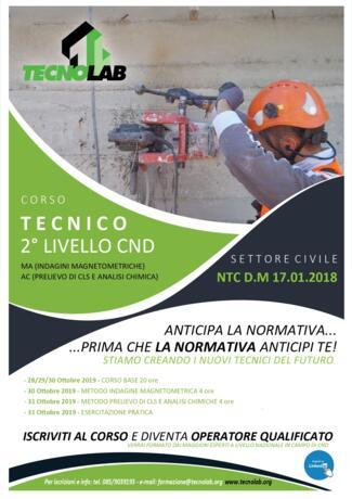 CORSO PER TECNICO DI 2° LIVELLO CND
