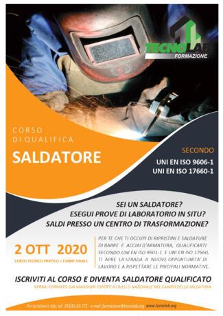 Corso di Qualifica Saldatore UNI EN ISO 9601-1 e UNI EN ISO 17660-1