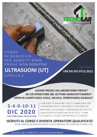 Corso di Qualifica per Addetti (PND) Ultrasuoni (UT) UNI EN ISO 9712:2012