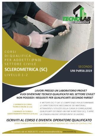 Corso di Qualifica per Addetti (PND) Metodo Sclerometrico (SC) secondo UNI PdR56