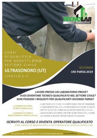 Corso di Qualifica per Addetti (PND) Metodo Ultrasonoro (UT) secondo UNI PdR56