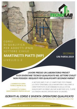 Corso di Qualifica per Addetti (PND) Metodo Martinetti Piatti (MP) secondo UNI PdR56