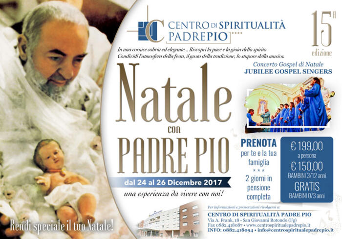 SUPER OFFERTA SPECIALE PER IL NATALE PIU' SPIRITUALE D'ITALIA