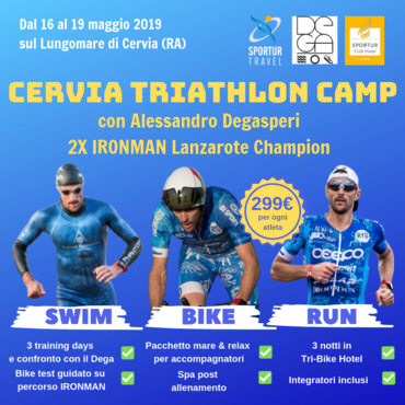 Dal 16 al 19 Maggio 2019 - Cervia Triathlon Camp con Alessandro Degasperi