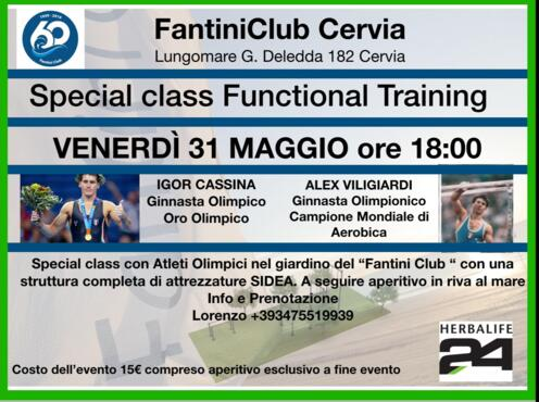 31 Maggio 2019 - Special Class Functional Training con Igor Cassina e Alex Viligiardi