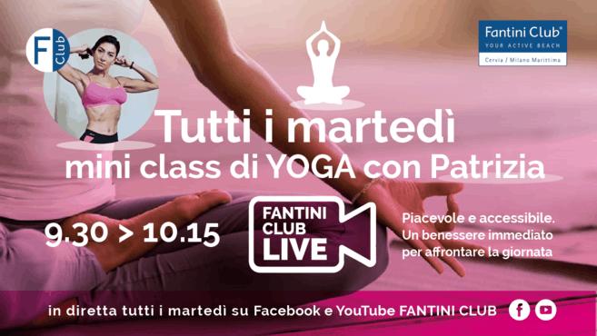 Ogni martedì ore 9.30 - Mini Class di Yoga con Patrizia