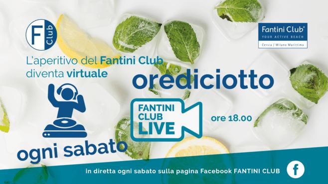 Ogni sabato ore 18.00 - AperitivoOrediciotto Live sulla pagina Facebook Fantini Club