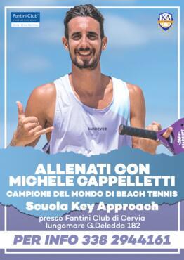 Nel mese di Agosto 2020 - Allenamenti di Beach Tennis con Michele Cappelletti