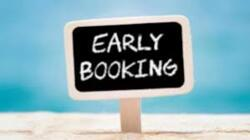EARLY BOOKING CONTINUE.....
