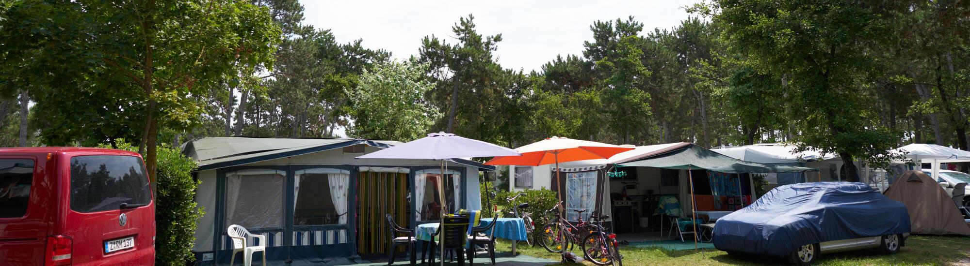 Kampeervakantie in juni op de camping in Bibione: aanbieding staanplaatsen