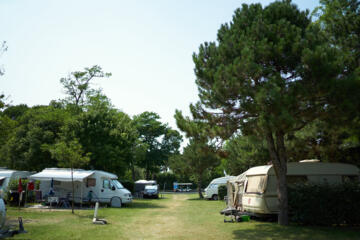 Holidays in pitch in Bibione in camping village by the sea