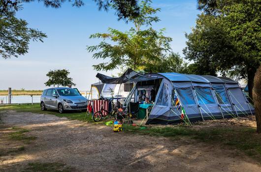 Vacanze di giugno in piazzole in campeggio a Bibione