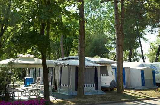 Offer for July: special pitches in a camping village in Bibione