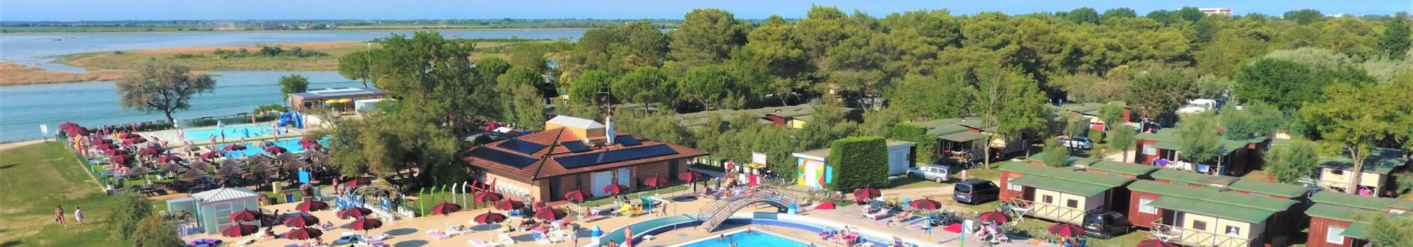 Promotion for July by camping village in Bibione with pools